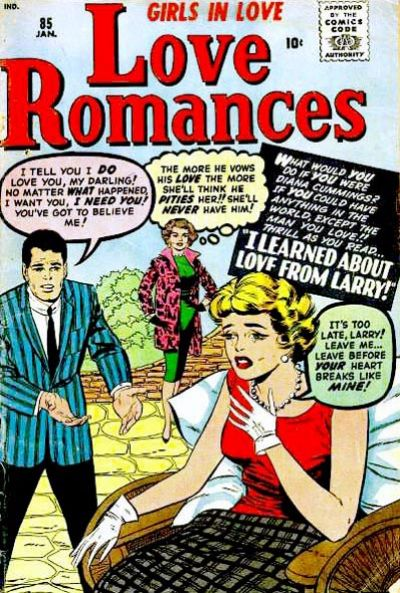 Cover for Love Romances (Marvel, 1949 series) #85