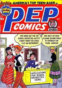 Cover Thumbnail for Pep Comics (Archie, 1940 series) #91