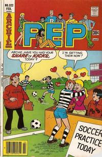 Cover Thumbnail for Pep (Archie, 1960 series) #322