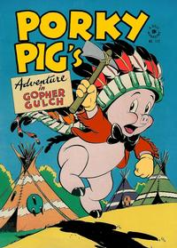 Cover Thumbnail for Four Color (Dell, 1942 series) #112 - Porky Pig's Adventure in Gopher Gulch