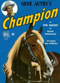 Cover Thumbnail for Four Color (Dell, 1942 series) #287 - Gene Autry's Champion in The Ghost of Black Mountain