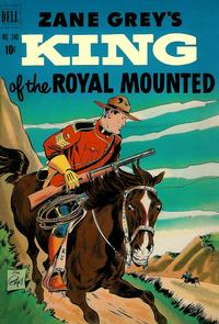 Cover for Four Color (Dell, 1942 series) #340 - Zane Grey's King of the Royal Mounted