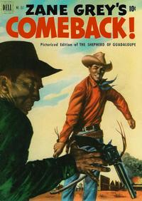 Cover Thumbnail for Four Color (Dell, 1942 series) #357 - Zane Grey's Comeback (The Shepherd of Guadaloupe)