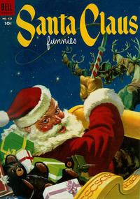 Cover Thumbnail for Four Color (Dell, 1942 series) #525 - Santa Claus Funnies