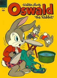 Cover Thumbnail for Four Color (Dell, 1942 series) #593 - Walter Lantz Oswald the Rabbit