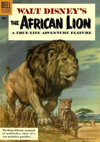 Cover Thumbnail for Four Color (Dell, 1942 series) #665 - Walt Disney's the African Lion