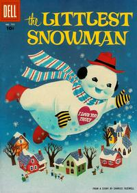 Cover Thumbnail for Four Color (Dell, 1942 series) #755 - The Littlest Snowman [Scenes from the story back cover]
