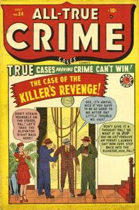 Cover Thumbnail for All True Crime Cases (Marvel, 1948 series) #34