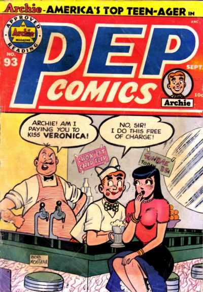 Cover for Pep Comics (Archie, 1940 series) #93