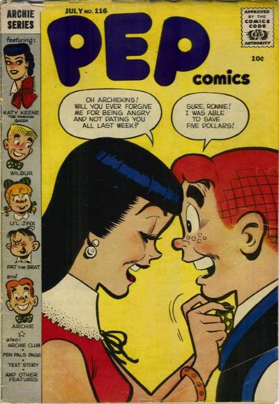 Cover for Pep Comics (Archie, 1940 series) #116