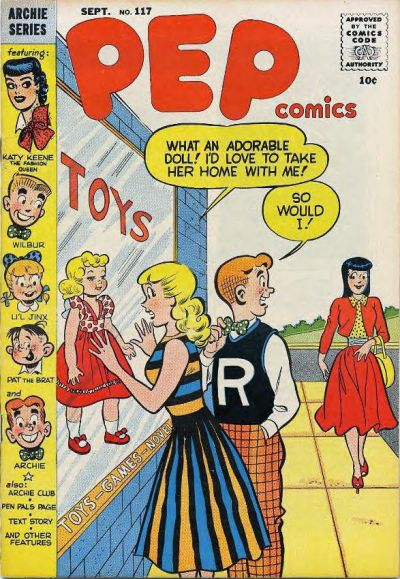 Cover for Pep Comics (Archie, 1940 series) #117