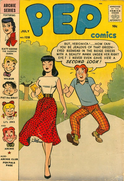 Cover for Pep Comics (Archie, 1940 series) #128