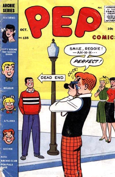 Cover for Pep Comics (Archie, 1940 series) #135