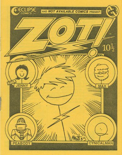 Cover for Zot! (Not Available Comics, 1985 series) #10 1/2