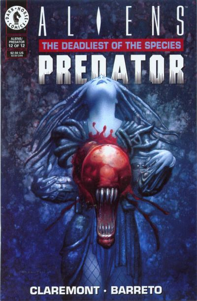 Cover for Aliens / Predator: The Deadliest of the Species (Dark Horse, 1993 series) #12