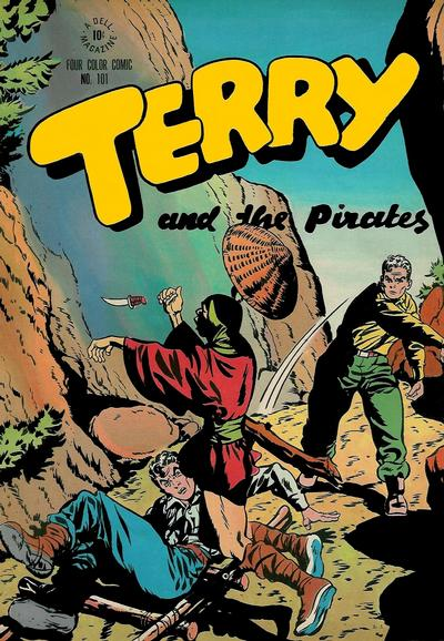 Cover for Four Color (Dell, 1942 series) #101 - Terry and the Pirates