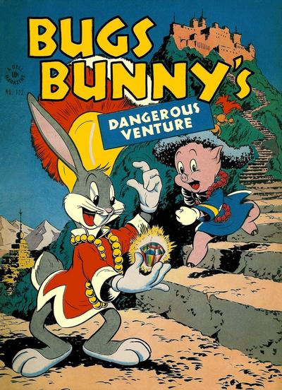 Cover for Four Color (Dell, 1942 series) #123 - Bugs Bunny's Dangerous Venture