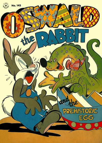 Cover for Four Color (Dell, 1942 series) #143 - Oswald the Rabbit and the Prehistoric Egg