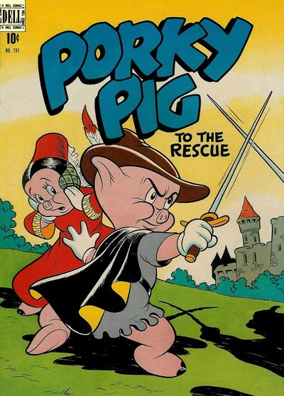 Cover for Four Color (Dell, 1942 series) #191 - Porky Pig to the Rescue