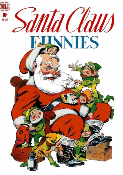 Cover for Four Color (Dell, 1942 series) #205 - Santa Claus Funnies