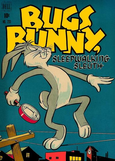 Cover for Four Color (Dell, 1942 series) #233 - Bugs Bunny, Sleepwalking Sleuth