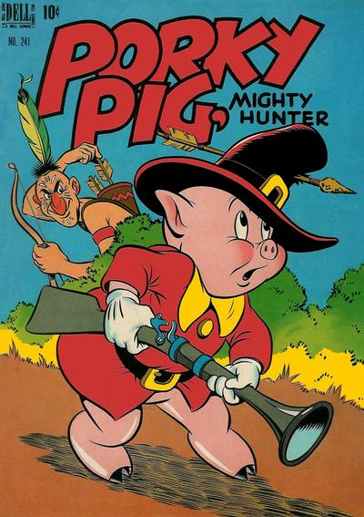 Cover for Four Color (Dell, 1942 series) #241 - Porky Pig, Mighty Hunter