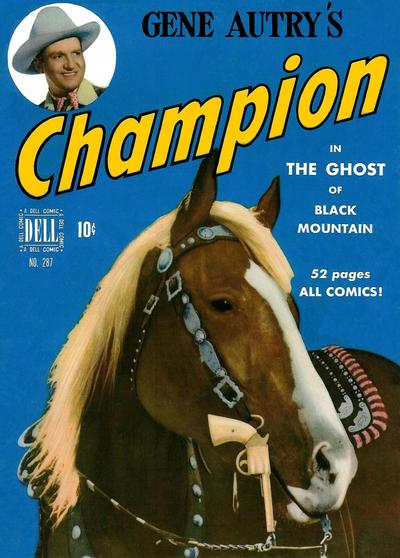 Cover for Four Color (Dell, 1942 series) #287 - Gene Autry's Champion in The Ghost of Black Mountain