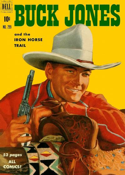 Cover for Four Color (Dell, 1942 series) #299 - Buck Jones and the Iron Horse Trail