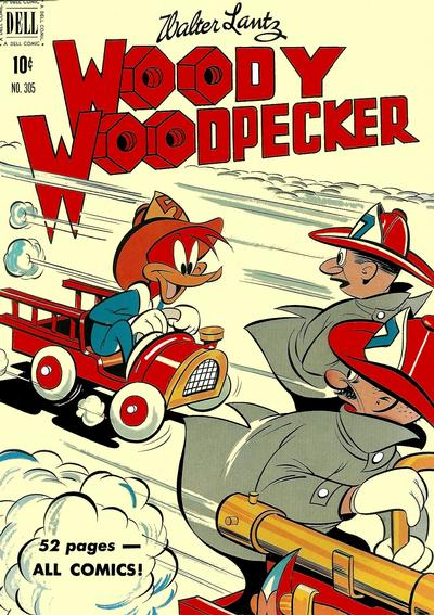 Cover for Four Color (Dell, 1942 series) #305 - Walter Lantz Woody Woodpecker