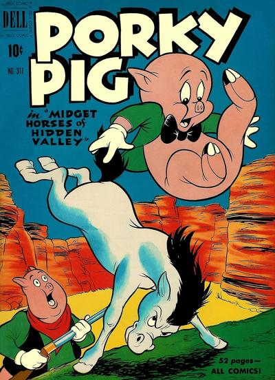 Cover for Four Color (Dell, 1942 series) #311 - Porky Pig in Midget Horses of Hidden Valley
