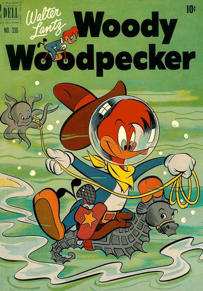 Cover for Four Color (Dell, 1942 series) #336 - Walter Lantz Woody Woodpecker
