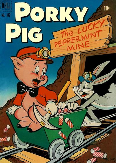 Cover for Four Color (Dell, 1942 series) #342 - Porky Pig in The Lucky Peppermint Mine