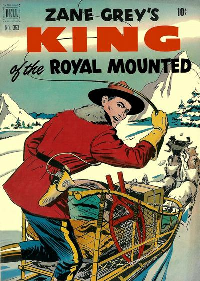 Cover for Four Color (Dell, 1942 series) #363 - Zane Grey's King of Royal Mounted