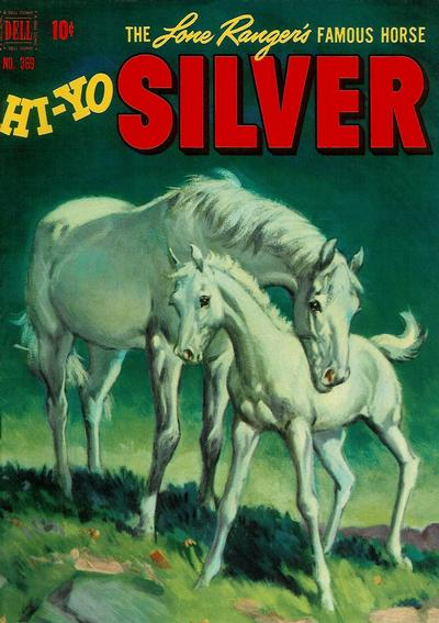 Cover for Four Color (Dell, 1942 series) #369 - The Lone Ranger's Famous Horse Hi-Yo Silver