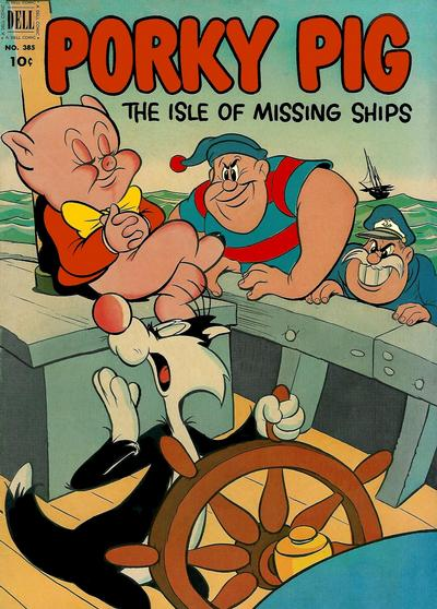 Cover for Four Color (Dell, 1942 series) #385 - Porky Pig in The Isle of Missing Ships