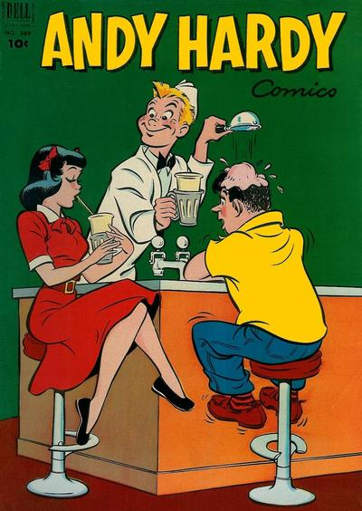 Cover for Four Color (Dell, 1942 series) #389 - Andy Hardy Comics