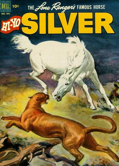 Cover for Four Color (Dell, 1942 series) #392 - The Lone Ranger's Famous Horse Hi-Yo Silver