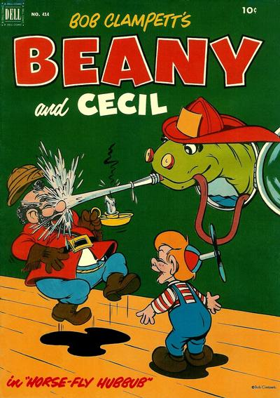 Cover for Four Color (Dell, 1942 series) #414 - Bob Clampett's Beany in Horse-Fly Hubbub