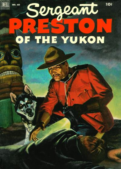 Cover for Four Color (Dell, 1942 series) #419 - Sergeant Preston of the Yukon
