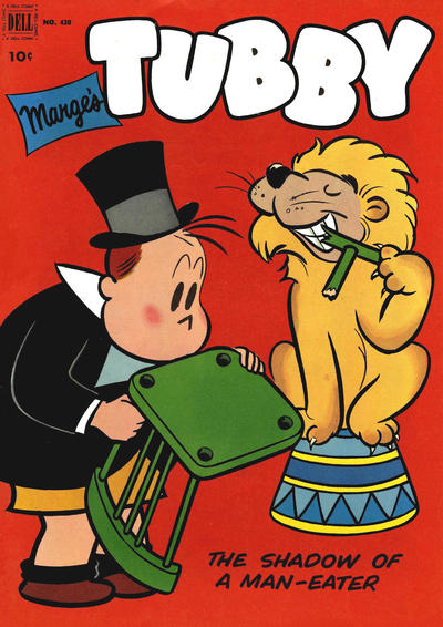 Cover for Four Color (Dell, 1942 series) #430 - Marge's Tubby, The Shadow of a Man-Eater