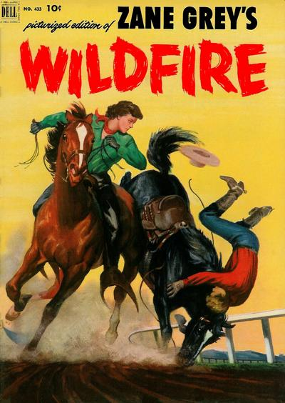 Cover for Four Color (Dell, 1942 series) #433 - Zane Grey's Wildfire