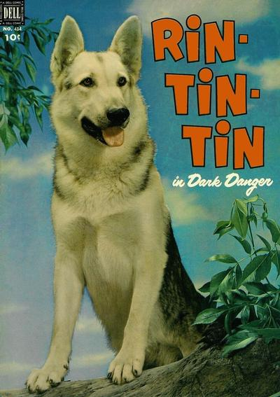 Cover for Four Color (Dell, 1942 series) #434 - Rin-Tin-Tin in Dark Danger