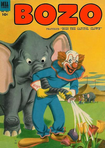 Cover for Four Color (Dell, 1942 series) #464 - Bozo, featuring Bozo the Capitol Clown