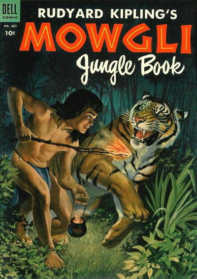 Cover for Four Color (Dell, 1942 series) #487 - Rudyard Kipling's Mowgli Jungle Book