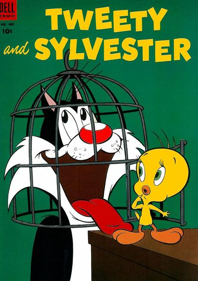 Cover for Four Color (Dell, 1942 series) #489 - Tweety and Sylvester