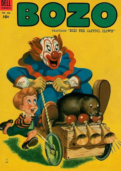 Cover for Four Color (Dell, 1942 series) #508 - Bozo, featuring Bozo the Capitol Clown