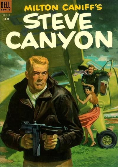 Cover for Four Color (Dell, 1942 series) #519 - Milton Caniff's Steve Canyon