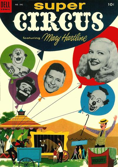 Cover for Four Color (Dell, 1942 series) #542 - Super Circus featuring Mary Hartline