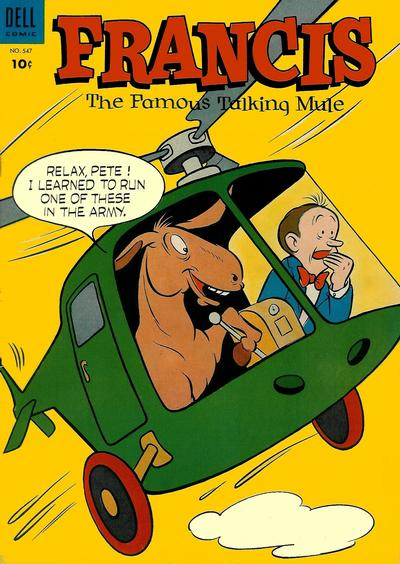 Cover for Four Color (Dell, 1942 series) #547 - Francis, The Famous Talking Mule