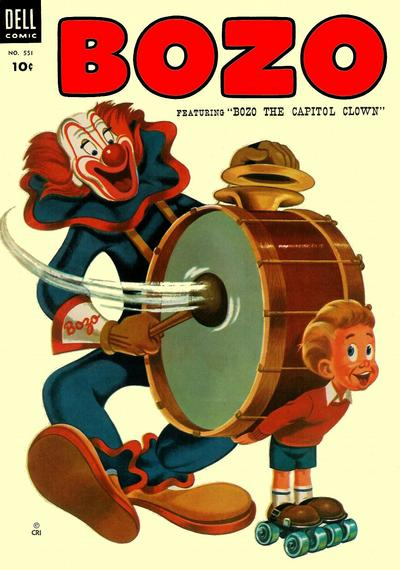 Cover for Four Color (Dell, 1942 series) #551 - Bozo, featuring Bozo the Capitol Clown